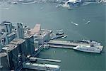 Aerial view over Ocean Terminal,Kowloon,Hong Kong