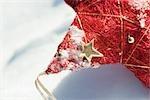 Ornement de Noël étoile, recadrée