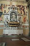 Tomb of Galileo, Santa Croce church, Florence (Firenze), UNESCO World Heritage Site, Tuscany, Italy, Europe