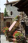 Vertine, ein Hügel-Dorf in der Nähe von Gaiole, Chianti, Toskana, Italien, Europa