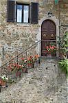Volpaia, ein Hügel-Dorf in der Nähe von Radda, Chianti, Toskana, Italien, Europa