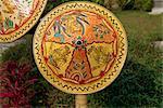 Painted rattan, Besakih Temple, Bali, Indonesia, Southeast Asia, Asia