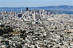 Toits de la ville de Twin Peaks, San Francisco, Californie, États-Unis d'Amérique (États-Unis d'Amérique), Amérique du Nord
