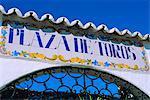 Porte de l'arène, Mijas, Andalousie, Espagne, Europe
