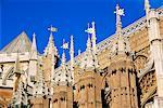 Détail de Westminster Abbey, Londres, Angleterre, Royaume-Uni