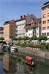 River Ljubljanica, Ljubljana, Slovenia, Europe