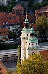 Cathédrale de Saint-Nicolas, Ljubljana, Slovénie, Europe