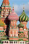 Cathédrale de Saint-Basile, place rouge, Site du patrimoine mondial de l'UNESCO, Moscou, Russie, Europe