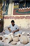 Man working alabaster, Egypt, North Africa, Africa