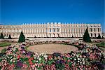 Parterre du Midi et le château de Versailles, patrimoine mondial de l'UNESCO, Ile de France, France, Europe