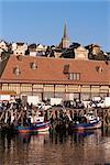Marché de front de mer et poissons, Trouville, Basse Normandie (Normandie), France, Europe