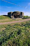 Batterie de canons, manivelle (battant), Longues-sur-Mer, Calvados, Normandie, France