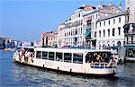 Vaporetto, Grand Canal, Venice, Veneto, Italy, Europe