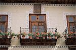 Maisons des balcons, Orotava, Tenerife, îles Canaries, Espagne, Europe