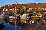 Evening strollers, Port Solent Marina, Hampshire, England, United Kingdom, Europe