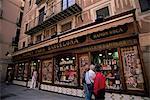 Matériel boutique, quartier gothique, à Barcelone, Catalogne, Espagne, Europe