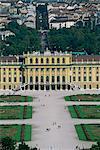 View of palace from Gloriette, Schonbrunn Palace, UNESCO World Heritage Site, Vienna, Austria, Europe