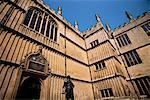 Earl of Pembroke statue, Bodleian Library, Oxford, Oxfordshire, England, United Kingdom, Europe