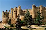 Castle walls, Valencia de Don Juan, Leon province, Castile Leon, Spain, Europe