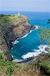Kilauea Lighthouse, Point de Kilauea, National Wildlife Refuge, l'île de Kauai, Hawaii, États-Unis d'Amérique, Pacifique, Amérique du Nord