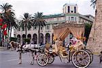 Street scene with carriage, Tripoli, Libya, North Africa, Africa