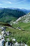 Col de la Colombière et les montagnes, près de La Clusaz, Rhone Alpes, France, Europe