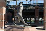 Mickey Mantle, Bricktown Ballpark, Oklahoma City, Oklahoma, États-Unis d'Amérique, l'Amérique du Nord