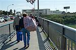 Pont sur le Rio Grande à la frontière du Mexique à Nuevo Laredo et les États-Unis d'Amérique à Laredo, Texas, États-Unis d'Amérique, l'Amérique du Nord