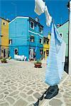 Burano, l'île près de Venise, Vénétie, Italie, Europe