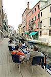 Canalside Cafe, Venedig, Veneto, Italien, Europa