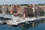 Port at Fontvieille, Monaco, Mediterranean, Europe