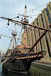 Navire de réplique de la Golden Hinde, Francis Drake, Southwark, Londres, Royaume-Uni, Europe