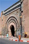 Porte de la ville près de Kasbah, Marrakech, Maroc, l'Afrique du Nord, Afrique