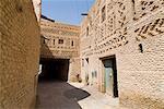 Mur de briques traditionnels architecture, Medina (centre-ville), Tozeur, Tunisie, Afrique du Nord, Afrique
