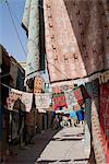 Tapis marché, Medina (centre-ville), Tozeur, Tunisie, Afrique du Nord, Afrique