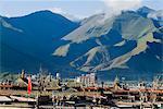 View over Lhasa, Tibet, China, Asia