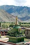 Stupa, Samye Monastery, Tibet, China,Asia