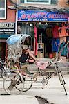 Rickshaw, Thamel area, Kathmandu, Nepal, Asia