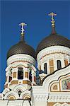Dômes de Alexander Nevsky Cathédrale, église orthodoxe russe, la colline de Toompea, Tallinn, Estonie, pays baltes, Europe