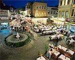 Pavement fish restaurants, Istanbul, Turkey, Europe