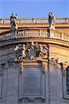 Détail de l'extérieur de Santa Maria Maggiore, Rome, Lazio, Italie, Europe