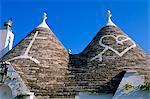 Alberobello, typique des maisons, Apulie (Pouilles), Italie