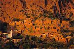 Oumesnat village, Tafraoute, au Maroc, en Afrique du Nord