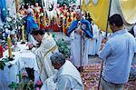 Corpus Domini procession, Desulo (Gennargentu), Sardinia, Italy, Europe