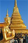 Wat Phra Kaeo, Grand Palais, Bangkok, Thaïlande, Asie
