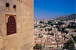 Vue de Grenade de l'Alhambra, à Grenade, Andalousie, Espagne, Europe