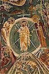 Religious wall paintings (frescoes), Sandal Church, Goreme Open Air Museum, Goreme, UNESCO World Heritage Site, Cappadocia, Anatolia, Turkey, Asia Minor, Eurasia