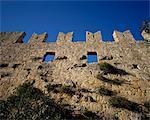 Murs de Ottoman château, Simena Kekova, Turquie, Eurasie