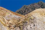 Yellow and orange volcanic rock, Nisyros (Nisiros) (Nissyros), Dodecanese islands, Greece, Mediterranean, Europe