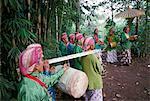 Guardians of the volcano, Merapi, Yogyakarta region, island of Java, Indonesia, Southeast Asia, Asia